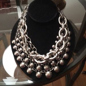 Free People Silver Statement Necklace